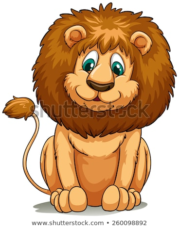 Behaved brown lion Stock photo © bluering