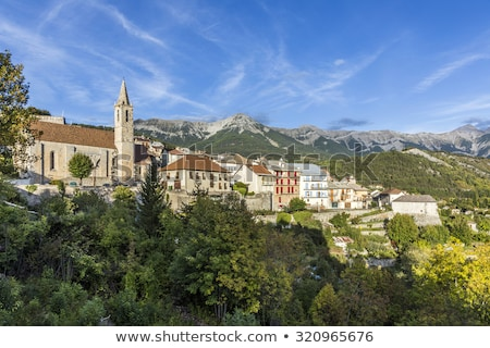 skyline of Seyne les Alpes Stock photo © meinzahn