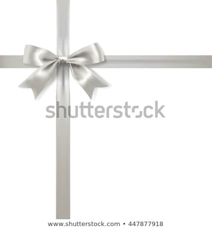 gift bow silver Stock photo © lienkie