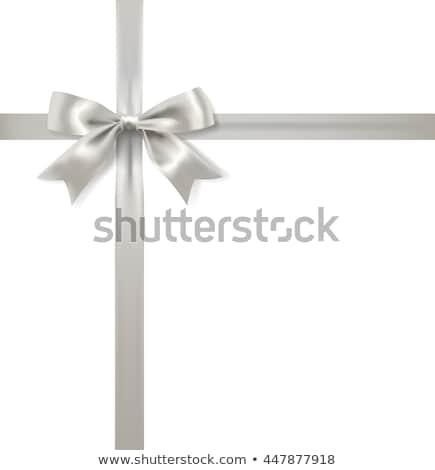 ギフト · 弓 · 銀 · 黒 · 反射 - ストックフォト © lienkie