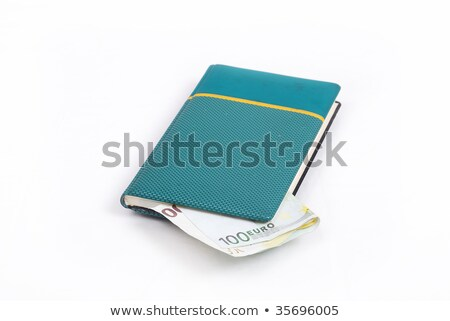 Euro money in little green notebook Stock photo © zurijeta