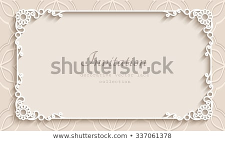 An empty template with floral borders Stock photo © bluering