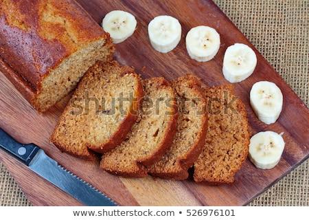 Muz kek sıcak kahve odak gıda Stok fotoğraf © Boophuket