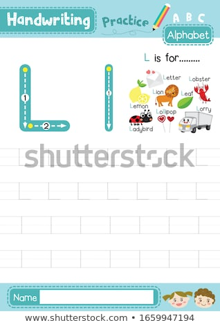 Flashcard letter L is for lorry Stock photo © bluering