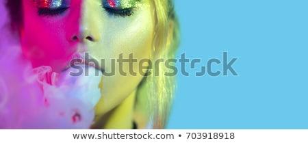 Donna tabacco pipe bella giovani Foto d'archivio © sapegina