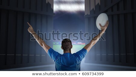 Stock photo: Composite image of rugby world cup international ball