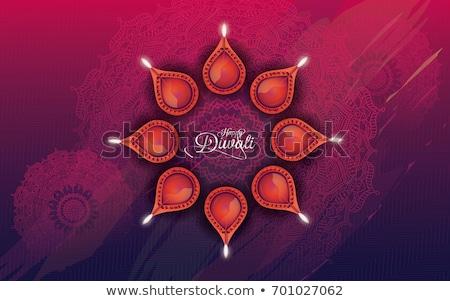mooie · diwali · groet · ornamenten · vector - stockfoto © sarts