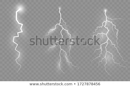 雷 孤立した 白 eps 10 実例 ストックフォト © beholdereye