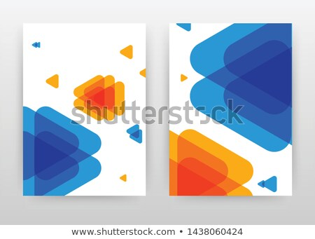 business brochure leaflet template with arrow and geometric shap Stock photo © SArts