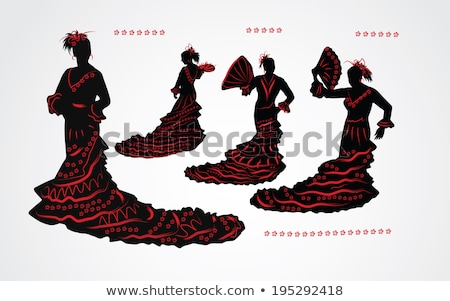 Kadın dans geleneksel İspanyolca dans yalıtılmış Stok fotoğraf © Elnur
