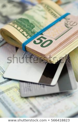 Amerikan para kredi kartları yalan üst Stok fotoğraf © vlad_star