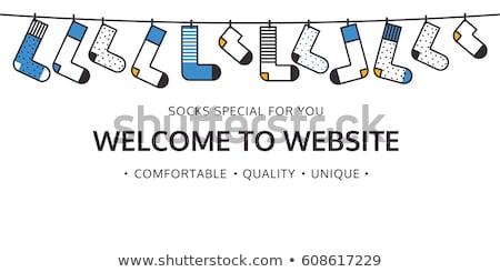 Karşılama web sitesi çorap alışveriş renk e-mail Stok fotoğraf © softulka