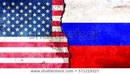 Crisis Amerikaanse vlag russisch symbool politiek uitdagen Stockfoto © Lightsource