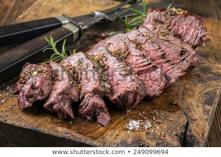 plakje · rundvlees · asperges · tomaten · tomaat · biefstuk - stockfoto © vichie81