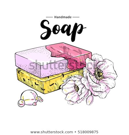 Colored handmade soap in a vintage packaging Stock photo © OleksandrO
