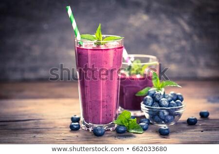 Stock photo: blueberry smoothie,juice