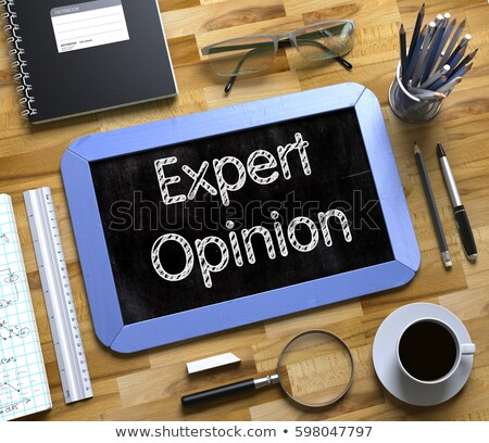 expert opinion concept on small chalkboard 3d stock photo © tashatuvango