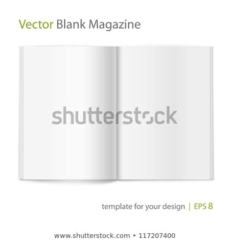 Open Magazine Spread Blank Vector. Isolated On White Background. Stock photo © pikepicture