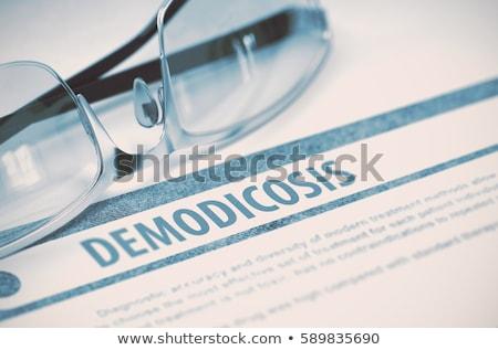 Diagnózis orvosi 3d render jelentés kék tabletták Stock fotó © tashatuvango