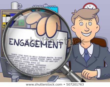 Engagement through Magnifier. Doodle Style. Stock photo © tashatuvango
