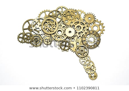 Folyamat mérnöki arany fogaskerék sebességváltó illusztráció Stock fotó © tashatuvango