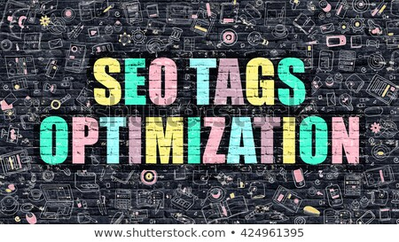 SEO Tags Optimization in Multicolor. Doodle Design. Stock photo © tashatuvango