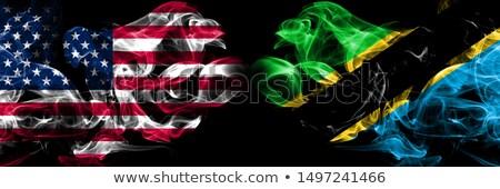 футбола пламя флаг Танзания черный 3d иллюстрации Сток-фото © MikhailMishchenko