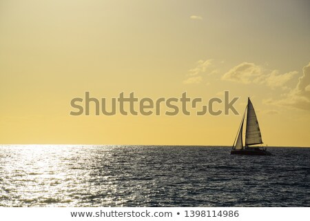 Sail boat crossing lake Stock photo © IS2