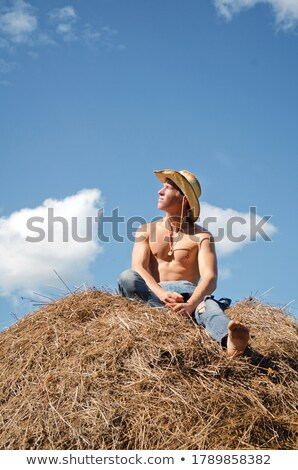 Shirtless Country Cowboy Stock photo © keeweeboy