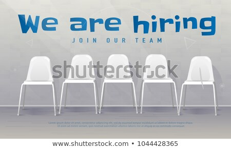 Want To Join Our Team - Cartoon Blue Text. Business Concept. Stock photo © tashatuvango
