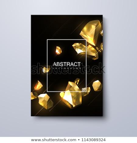 Precious Stones and Rock Frame Vector Illustration Stock photo © robuart