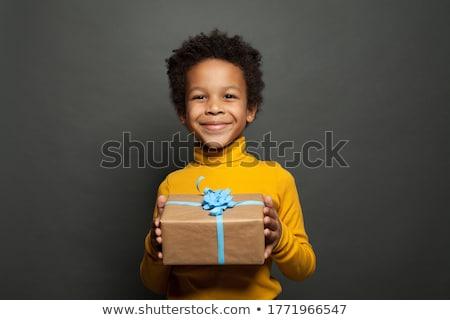 Boy in box stock photo © pressmaster