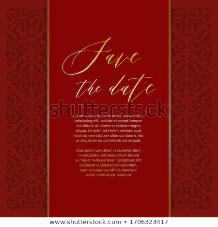 ethnic red and gold luxury royal background Stock photo © SArts