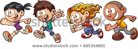 Meisje jongen lopen vrouw natuur leuk Stockfoto © IS2