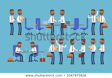 Indian businessmen contract conclusion in office Stock photo © studioworkstock