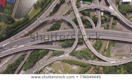 Spagetti elágazás autó autópálya fényes Stock fotó © IS2