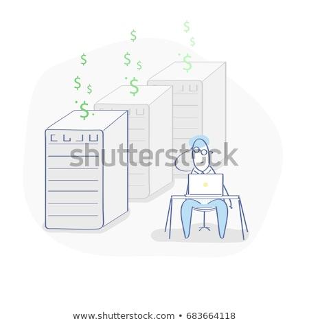 izometrikus · felhő · bányászat · szerverek · távoli · dedikált - stock fotó © popaukropa