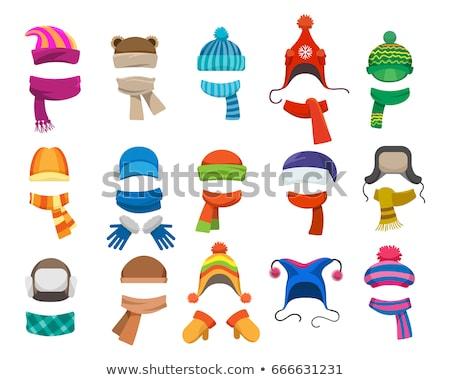 tél · ruházat · gyűjtemény · cipők · rajz · grafikus - stock fotó © dejanj01