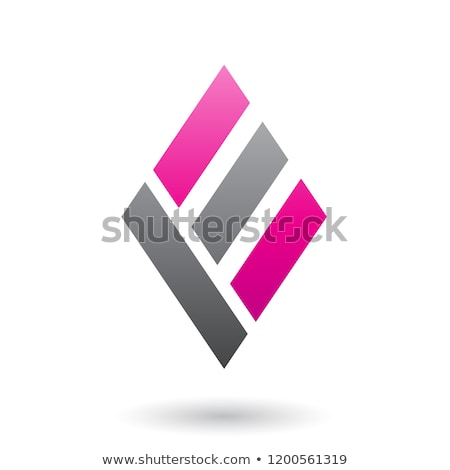 Magenta and Black Diamond Shaped Letter A Vector Illustration Stock photo © cidepix
