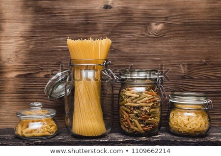 container with pasta of different sort stock photo © dash