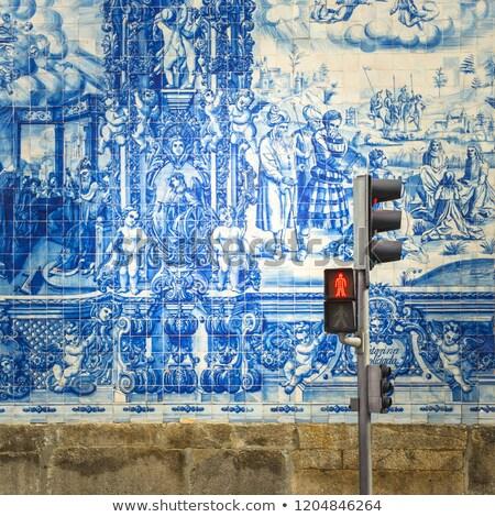 Porto traditional tiled street, Portugal Stock photo © joyr