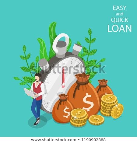 Quick and easy loan isometric flat vector concept. Stock photo © TarikVision