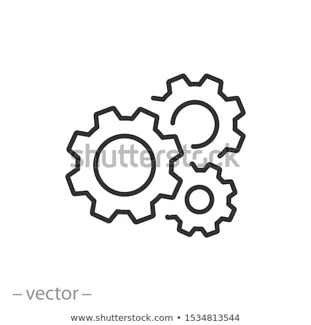 Thin line vector cog wheels and gears Stock photo © blumer1979