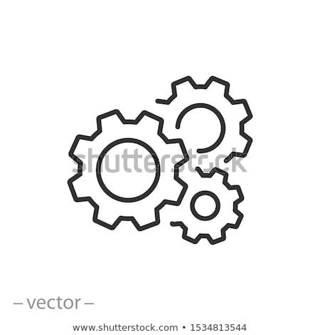 vector · cog · wielen · abstract · ontwerp · fabriek - stockfoto © blumer1979