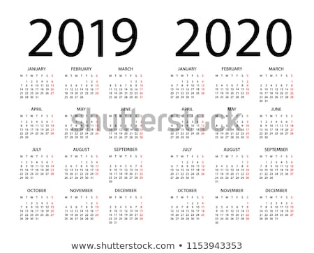 Calendar Grid for 2019 year on white background. Portrait and landscape orientation layout. Vector d Stock photo © kyryloff