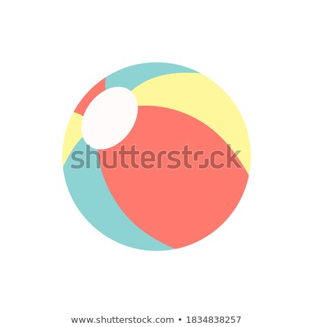 Rubber blue ball - modern vector realistic isolated object Stock photo © Decorwithme