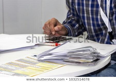 avukat · ofis · oturma · bilgisayar · genç · çalışma - stok fotoğraf © traimak