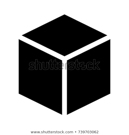 three dimensional or 3d cube hexahedron flat icon for apps and websites stock photo © kyryloff