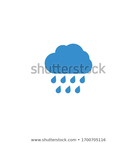 cloud and raindrop vector logo icon Stock photo © blaskorizov