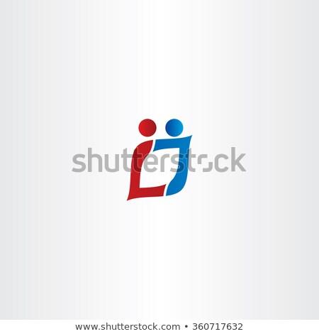 Letter l mensen logo vector icon symbool Stockfoto © blaskorizov